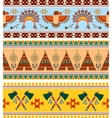 Tribal Ethnic Vintage Background vector image vector image