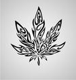 Tribal Marijuana Leaf vector image
