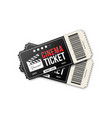 two cinema tickets on white background movie vector image vector image