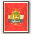Type Christmas design with deer and sunburst rays vector image