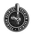 vintage premium brewery label vector image