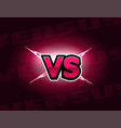 vs letters on lightning background versus logo vector image vector image