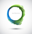 Watercolor Ring Green Blue vector image