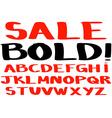 Bold handwritten alphabet vector image