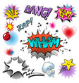 pop art comic modern speech bubble set vector image