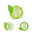 Ecology organic icon set eco-icons vector image