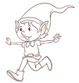 A plain drawing of an elf vector image vector image