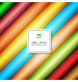 abstract stripe diagonal pattern colorful vector image vector image