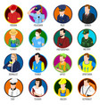 avatar professions icon set vector image vector image