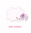 Baby shower with cute elephant vector image vector image