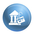 bank phishing icon simple style vector image vector image