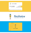 beautiful glass logo and business card vertical vector image vector image