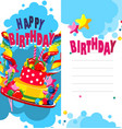 birthday cake card vector image vector image
