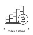 bitcoin market growth chart linear icon vector image