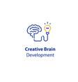 brain and light-bulb creativity development vector image vector image