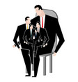 Business family office relatives corporate vector image