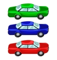 Cars red green blue vector image vector image