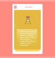 chef mobile vertical banner design design vector image