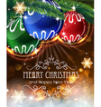 christmas ornaments with sparkles and fir branches vector image vector image