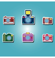 color icons with photo camera symbols vector image