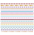 Colored line borders Pattern brushes or vector image