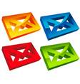 Colorful 3D Envelope Mail Icons vector image