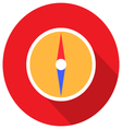 Compass in flat design vector image
