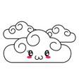 cute clouds cartoon vector image vector image