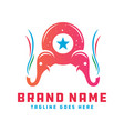 cute elephant animal logo design your company vector image