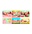 fairy tale landscape collection candy land vector image vector image