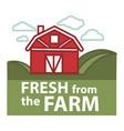 farm fresh product label farmer barn vector image vector image