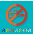 Flat design no smoking vector image