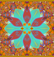 floral pattern in doodle style with flowers and vector image vector image