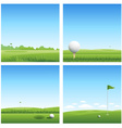 Four golf backgrounds vector | Price: 1 Credit (USD $1)