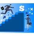 Gender inequality on career ladder vector image vector image