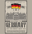 germany travel and tourism berlin city tours vector image