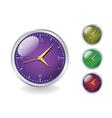 Glossy Clocks vector image vector image