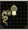 golden Chinese dragon on a black background vector image vector image