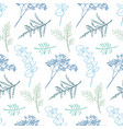 hand drawn doodle seamless pattern background vector image vector image
