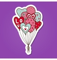 Heart air balloons batch vector image