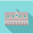 historical building in city icon flat style vector image