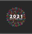 hny 2021 logo and happy new year white text vector image