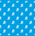 home protection pattern seamless blue vector image