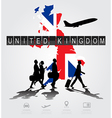 infographic silhouette people in airport vector image vector image