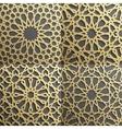 islamic pattern set of 4 ornamentsseamless arabic