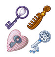 keys combs and pads for needles vector image