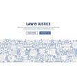 law justice banner design