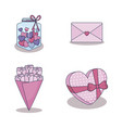 love card set icons vector image