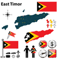 Map of East Timor vector image