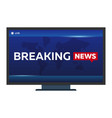 mass media breaking news banner live tv show vector image vector image